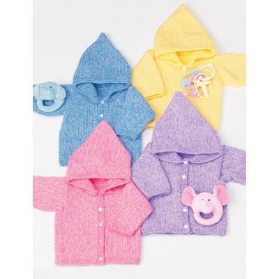 Baby Bear Hoodie Knitting Pattern : Baby Hoodie Knitting Pattern FaveCrafts.com