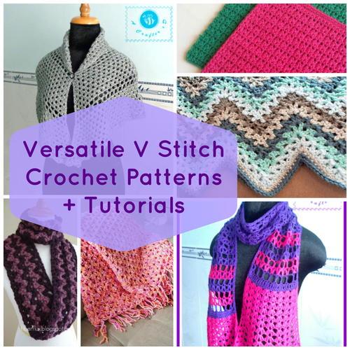 Crochet Patterns V Stitch : 19 Versatile V Stitch Crochet Patterns + Tutorials AllFreeCrochet ...