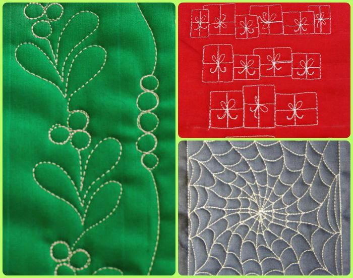 15 Free Motion Quilting Holiday Patterns FaveQuilts.com