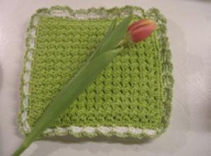 Crunch Stitch Crochet Potholder Pattern