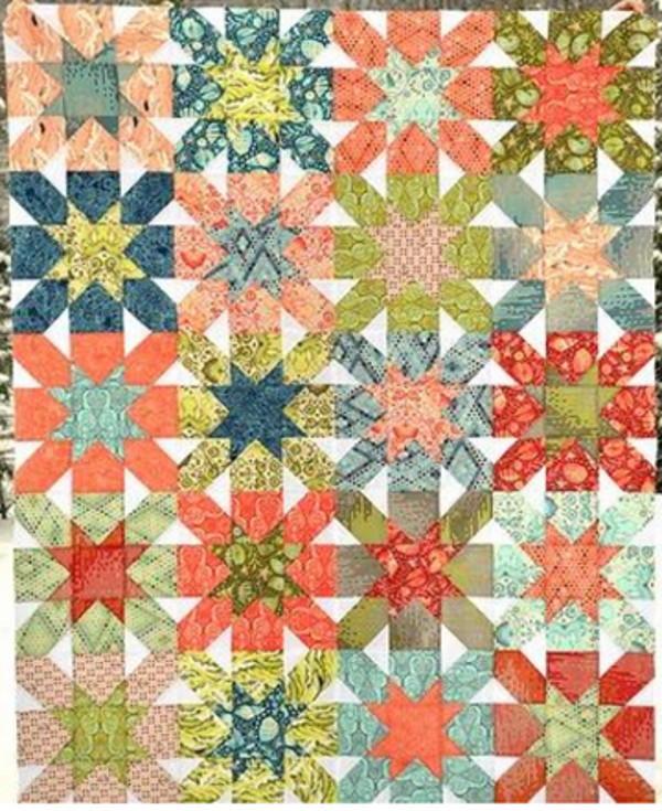 Starburst Cross Block Quilt Favequilts Com