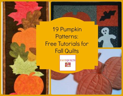 19 Pumpkin Patterns: Free Tutorials for Fall Quilts