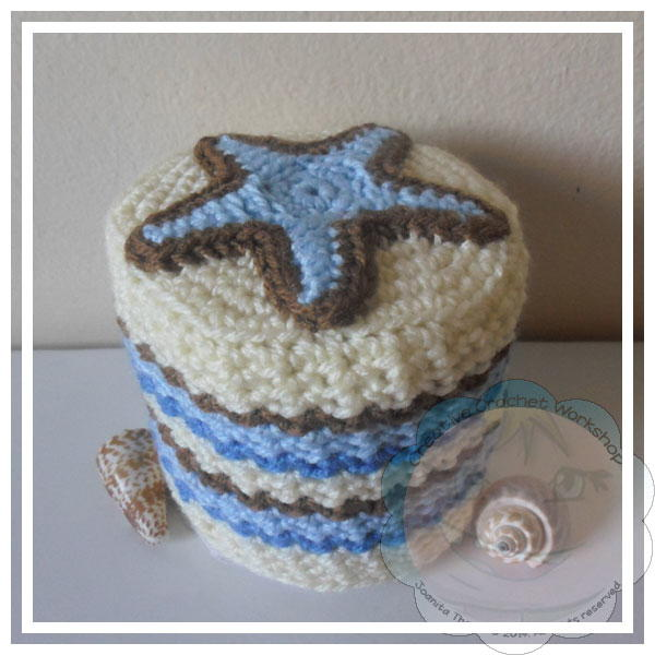 Starfish Crochet Toilet Paper Roll Cover Large600 Id