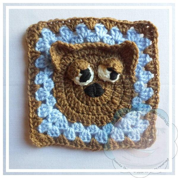 Crochet Cat Granny Square Favecrafts Com