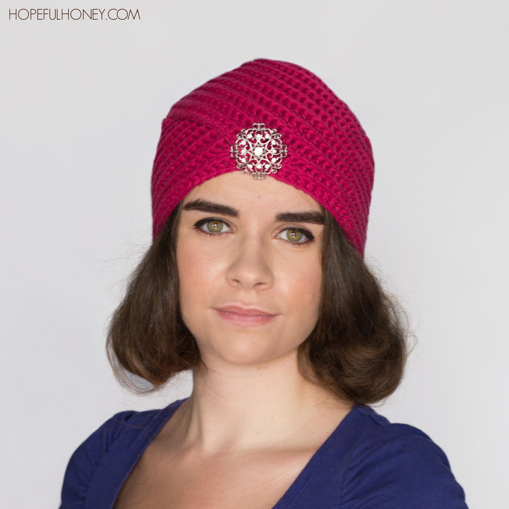 Crochet Pattern Turban Hat : Heather Rose Crochet Turban AllFreeCrochet.com