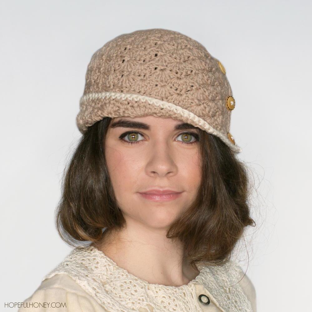 1920 Caramel Crochet Cloche Hat AllFreeCrochet.com