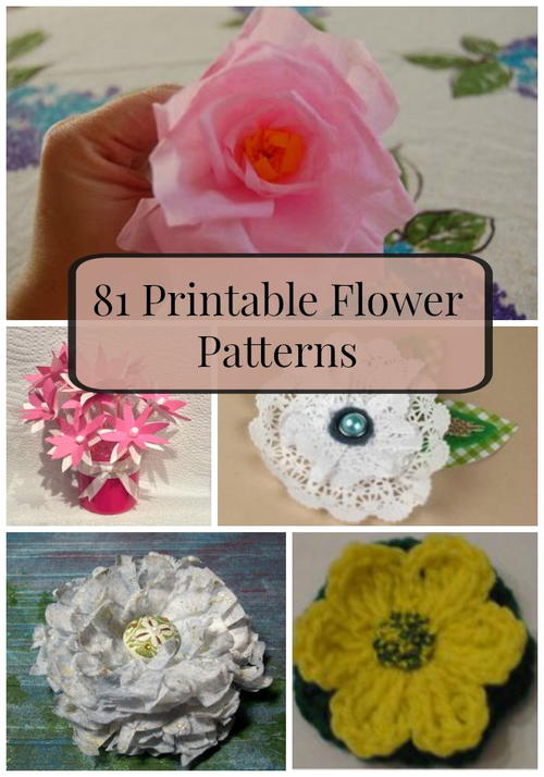 81 Printable Flower Patterns