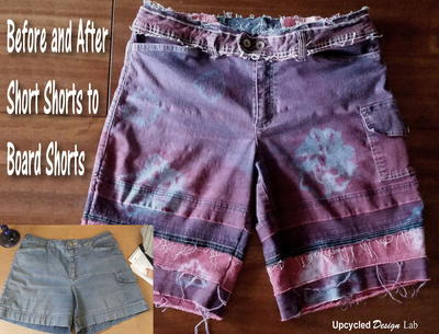 Upcycled Tie Dye Denim Shorts