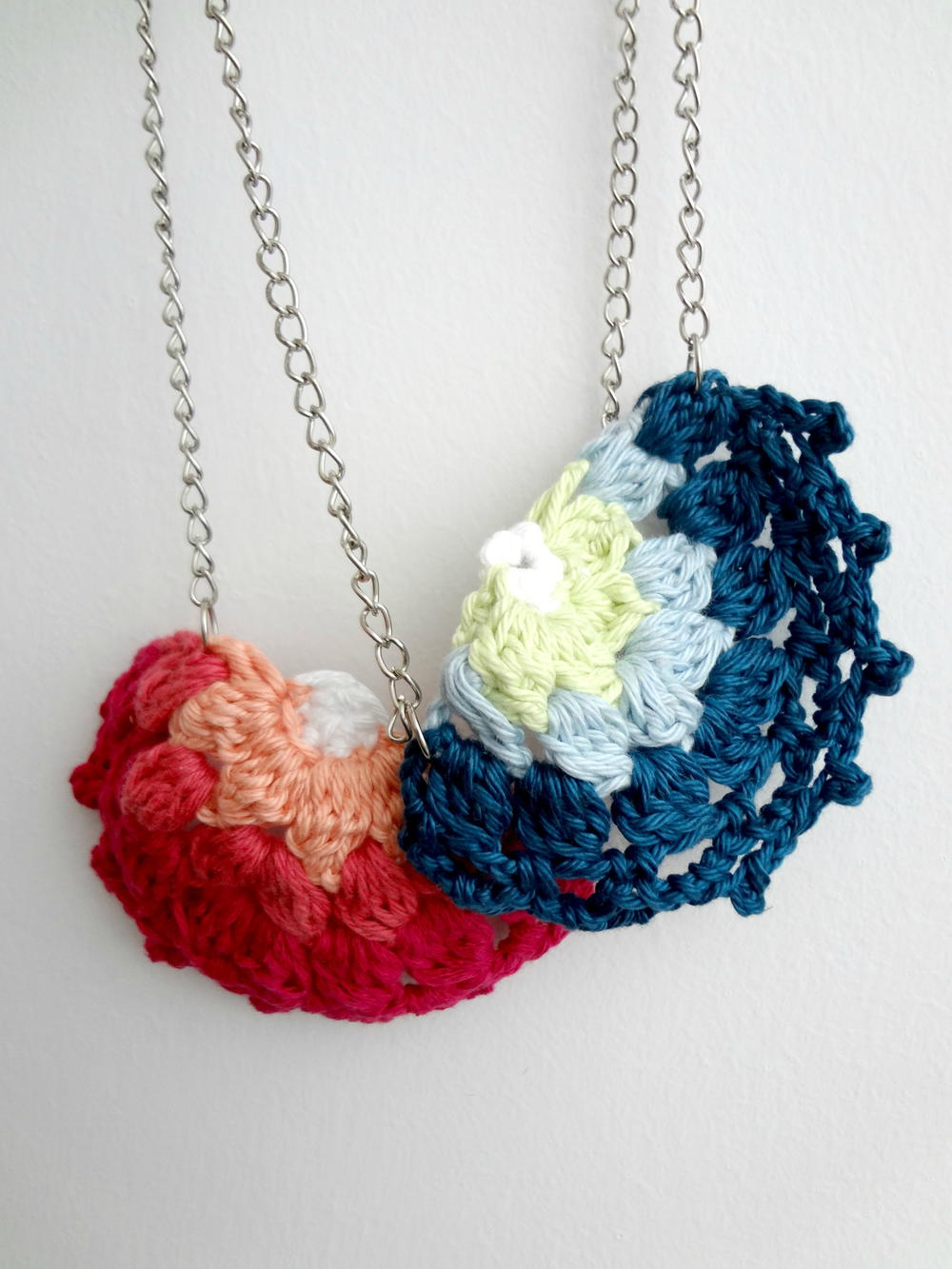 Free Crochet Wedding Jewelry Patterns : Crocheted Doily DIY Necklace FaveCrafts.com