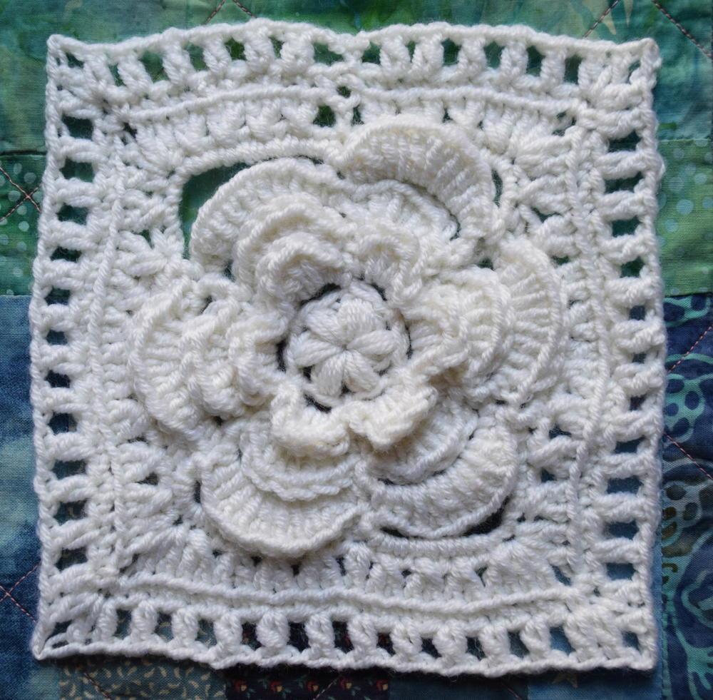 Mayapple Crochet Flower Square FaveCrafts.com