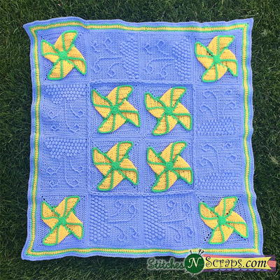 Free Pinwheel Crochet Baby Blanket Pattern : Pinwheel Crochet Blanket Pattern AllFreeCrochet.com