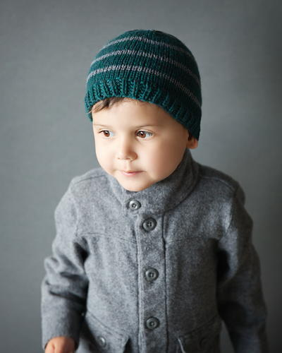 Boys Hat Knitting Pattern : Toddler Boy Knit Hat Pattern AllFreeKnitting.com