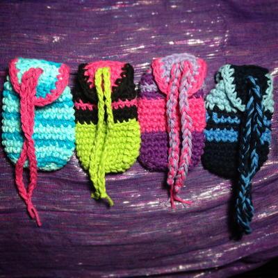Crochet Medicine Bag Pattern : Medicine Bag Pouch AllFreeCrochet.com