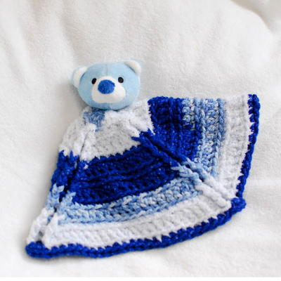 Bear Crochet Lovey Blanket AllFreeCrochet.com