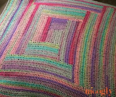 Easy log cabin afghan for Log cabin blanket