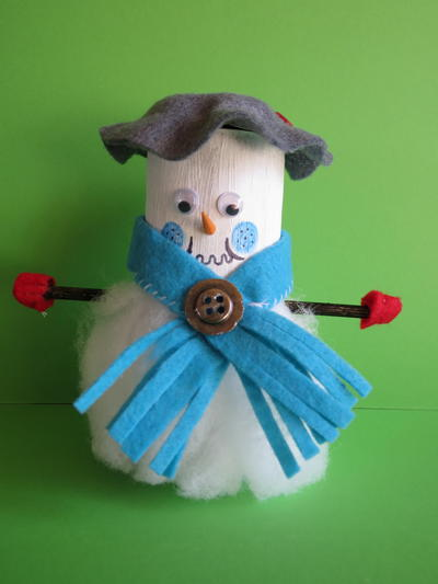 Christmas Snowman Toilet Paper Roll Craft