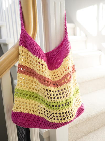 Crochet Beach Bag : Crochet Beach Tote Bag AllFreeCrochet.com
