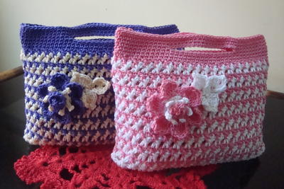 Free Crochet Pattern For Gift Bags : Small Gift Bag AllFreeCrochet.com