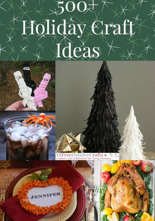 Holiday Craft Ideas 500 Christmas Crafts Halloween