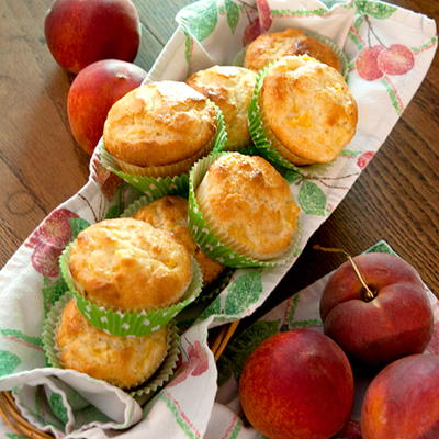 Peaches and Cream Breakfast Muffins