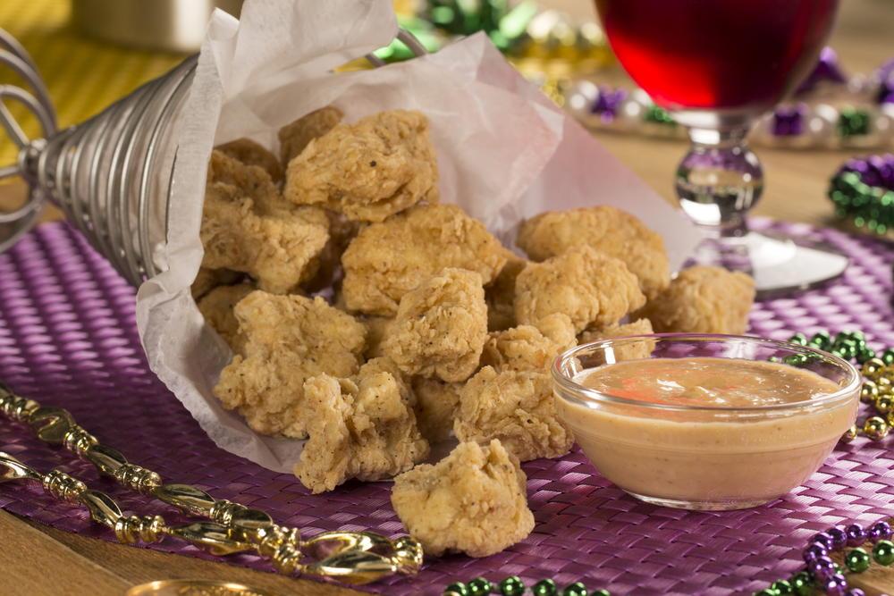 Mardi gras popcorn chicken mrfood forumfinder Choice Image