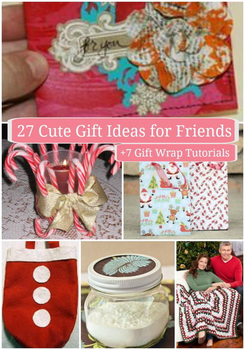 27 Cute Gift Ideas for Friends + 7 Gift Wrap Tutorials