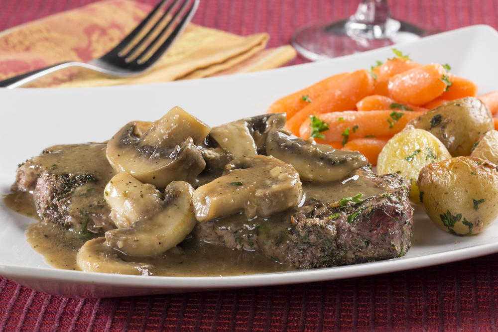 Mushroom steak for Easy things to make for dinner for two