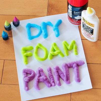 3 Ingredient DIY Foam Paint | FaveCrafts.com