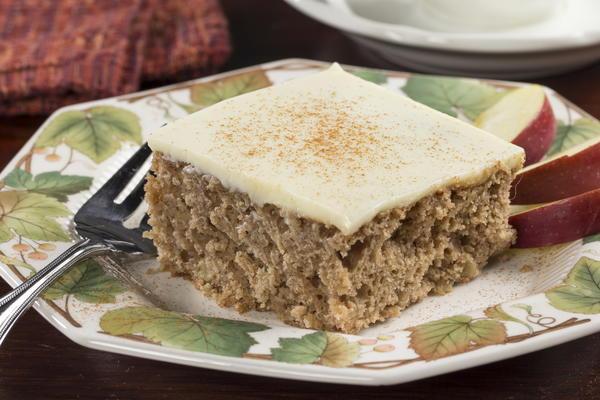 Apple Spice Custard Cake | MrFood.com