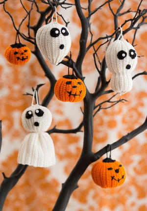 Crochet Halloween Ornaments