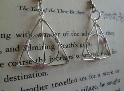 Deathly Hallows DIY Earrings
