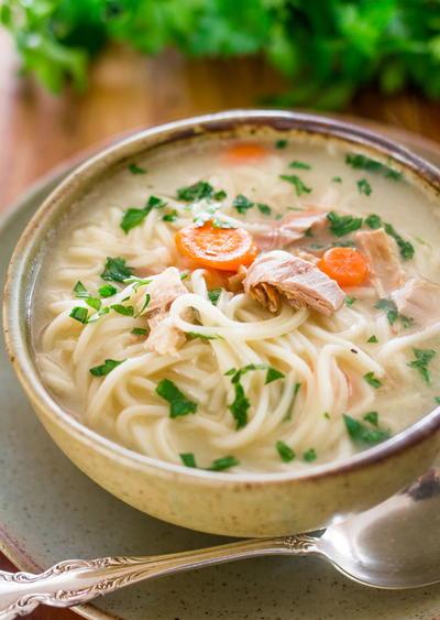 Scratch-Made Leftover Turkey Noodle Soup | FaveSouthernRecipes.com