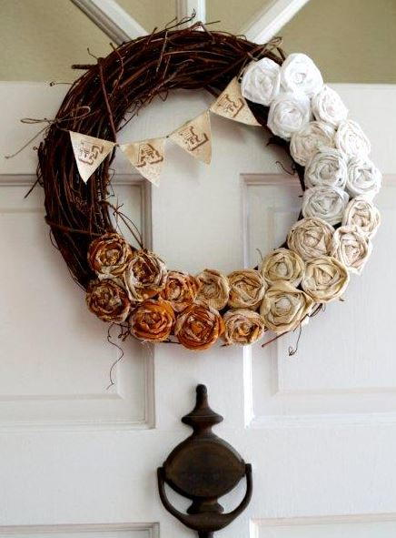 Fall Rosette Wreath