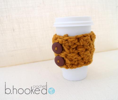 Pumpkin Spice Crochet Coffee Cozy