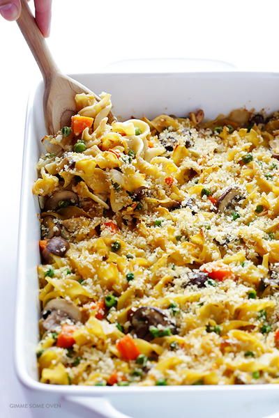 Lighter Tuna Noodle Casserole
