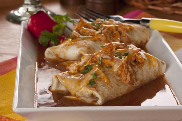 Slow Cooker Chicken Enchiladas | MrFood.com