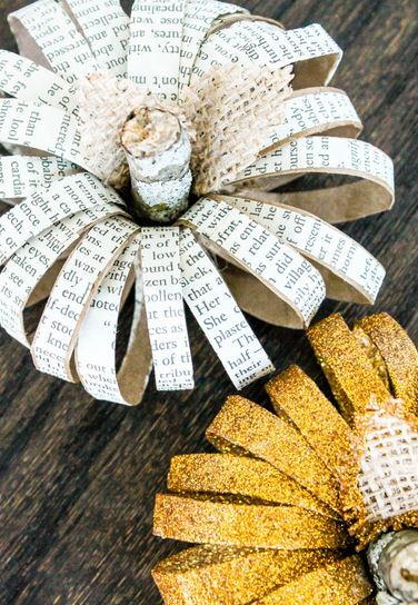 DIY Paper Roll Pumpkins