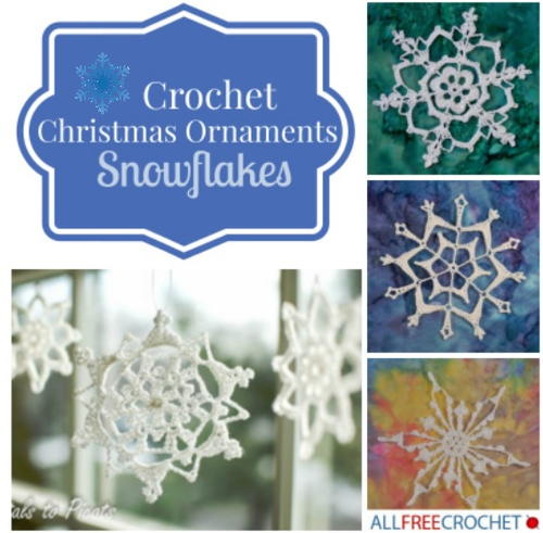Crochet Christmas Ornaments Snowflakes