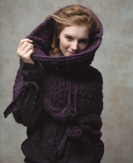Free Knitting Patterns For Snoods : Woodland Nightfall Knit Snood AllFreeKnitting.com