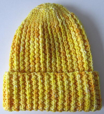 Crochet Ribbed Hat : Faux Mistake Rib Easy Crochet Hat FaveCrafts.com