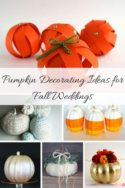 28 pumpkin decorating ideas for fall weddings for Fall pumpkin decorating ideas