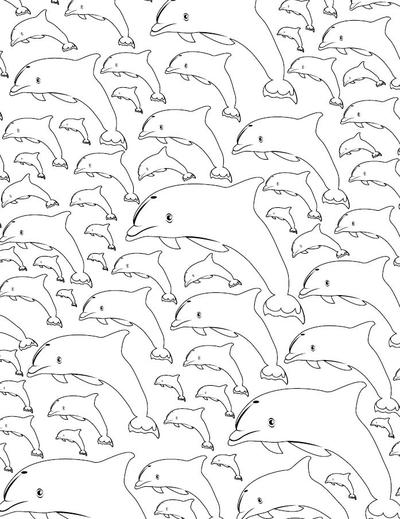 Calming Dolphin Adult Coloring Page Favecrafts Com