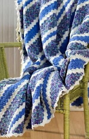 Crochet Crochet to Corner Throw Pattern