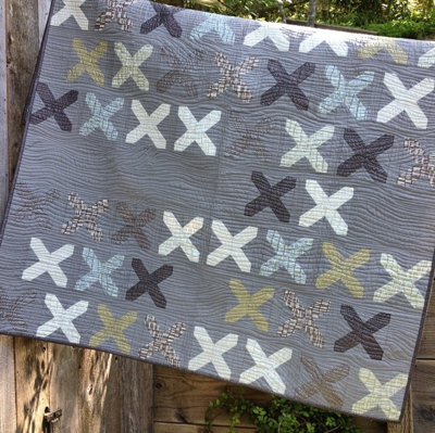 Just kisses modern quilt pattern for Modern house quilts