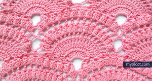 Lacy Shell Popcorn Stitch Pattern