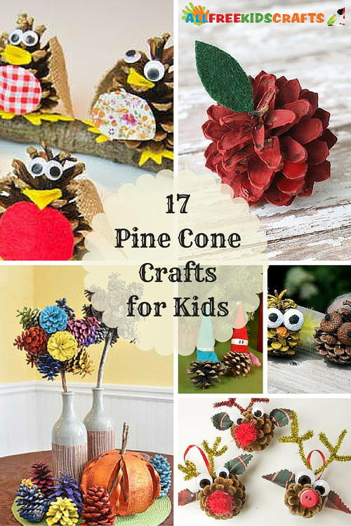 17 pine cone crafts for kids for Pine cone crafts for children