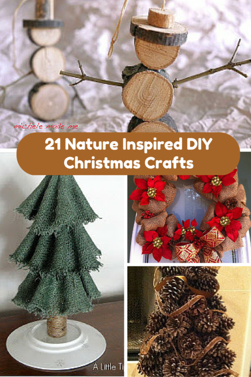 21 nature inspired diy christmas crafts for Crafts made from nature