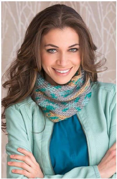 Fair Isle Crochet Cowl