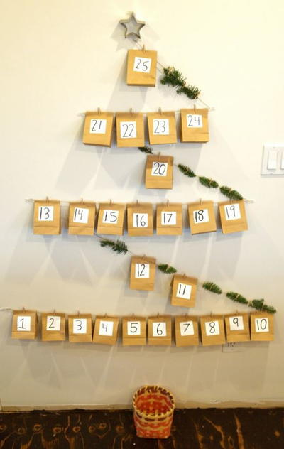 Diy Calendar Christmas : Diy paper bag advent calendar allfreekidscrafts