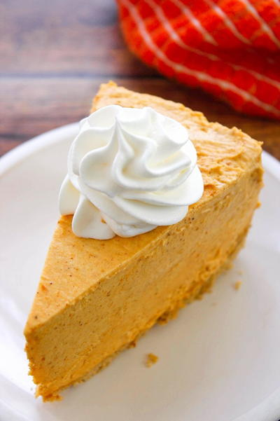 No Bake Pumpkin Pie Cheesecake | TheBestDessertRecipes.com